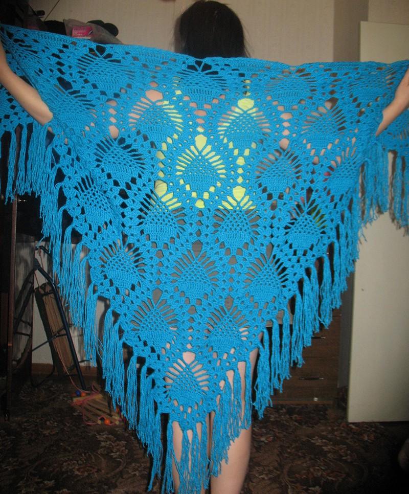 Вязание.  Рубрика: Аксессуары Шали Метки: схема вязания шали.  Шаль с кружевной каймой Дата: 24/06/2010 21:26:58.