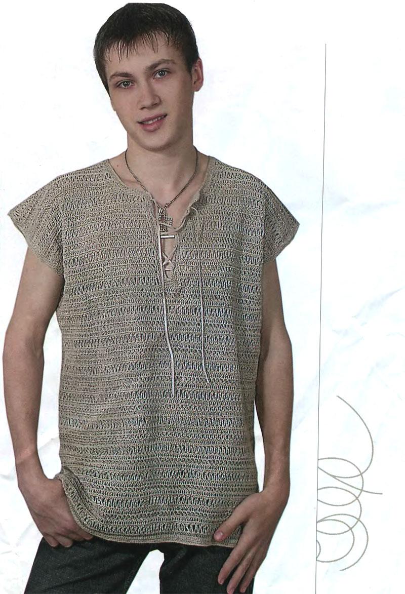 Свяжите крючком плетёнку требуемой длины и 4 ряда столбиков без накида.  Затем свитерок свяжите согласно схеме.
