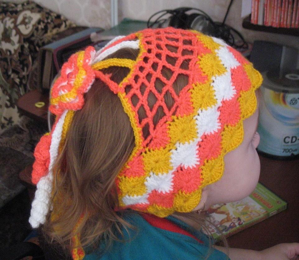 шапочка - повязка на голову для девочки
