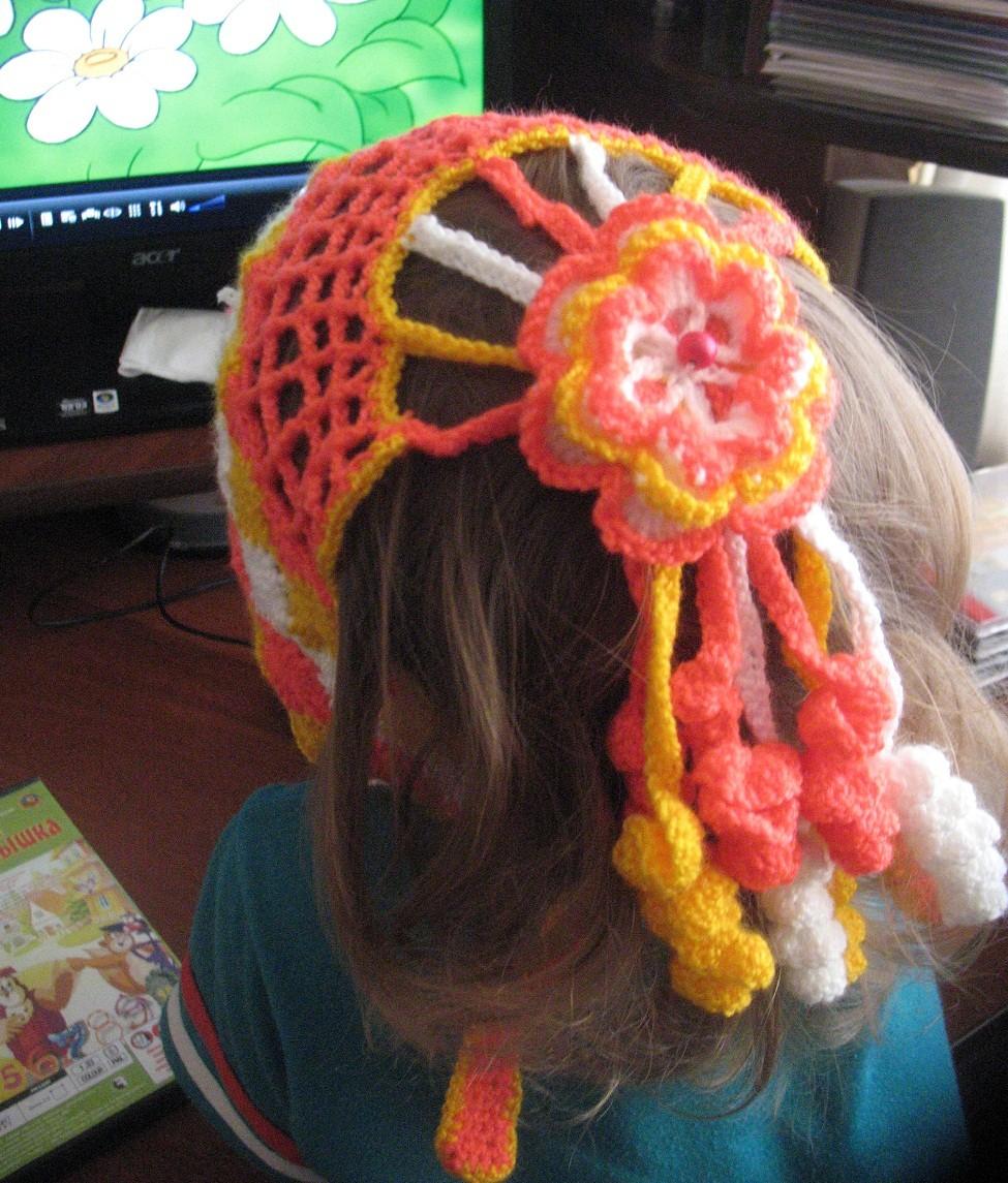 Вязание косынка на голову