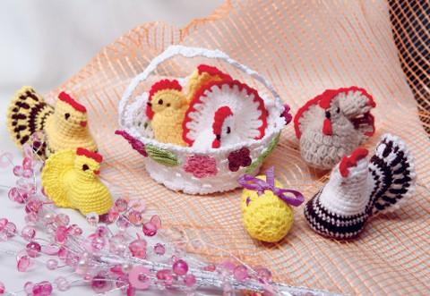 Вязаный цыпленок к Пасхе - Описание вязания, схемы