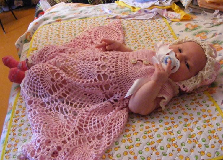 Платье для малышки с ананасами