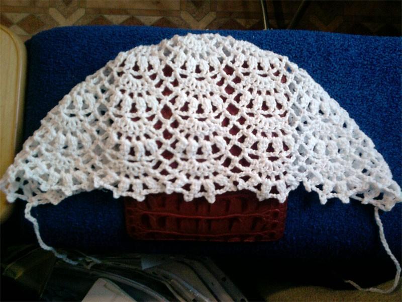 Схемы вязания чепчика по ссылке.  Самое первое связанное мной. платье.