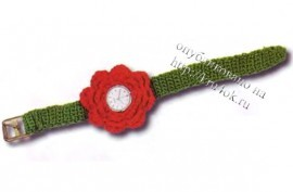Часы с розочкой