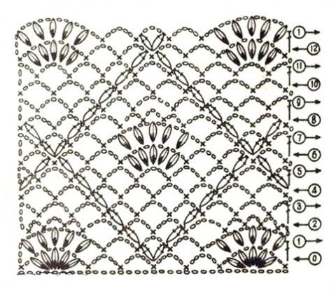 Модные шапки 2012г., схема вязания.