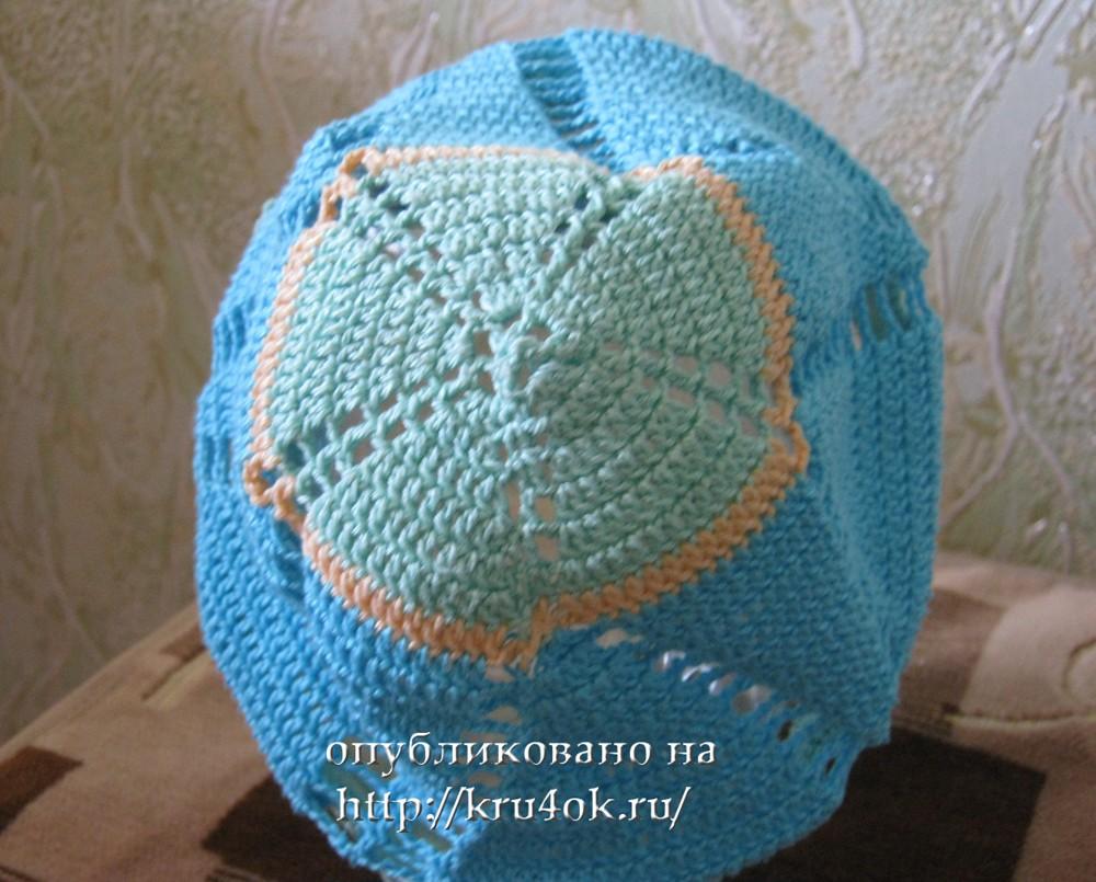 Схема вязания крючком кепки для мальчика.