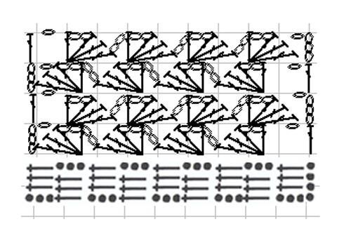 Схема вязания основного