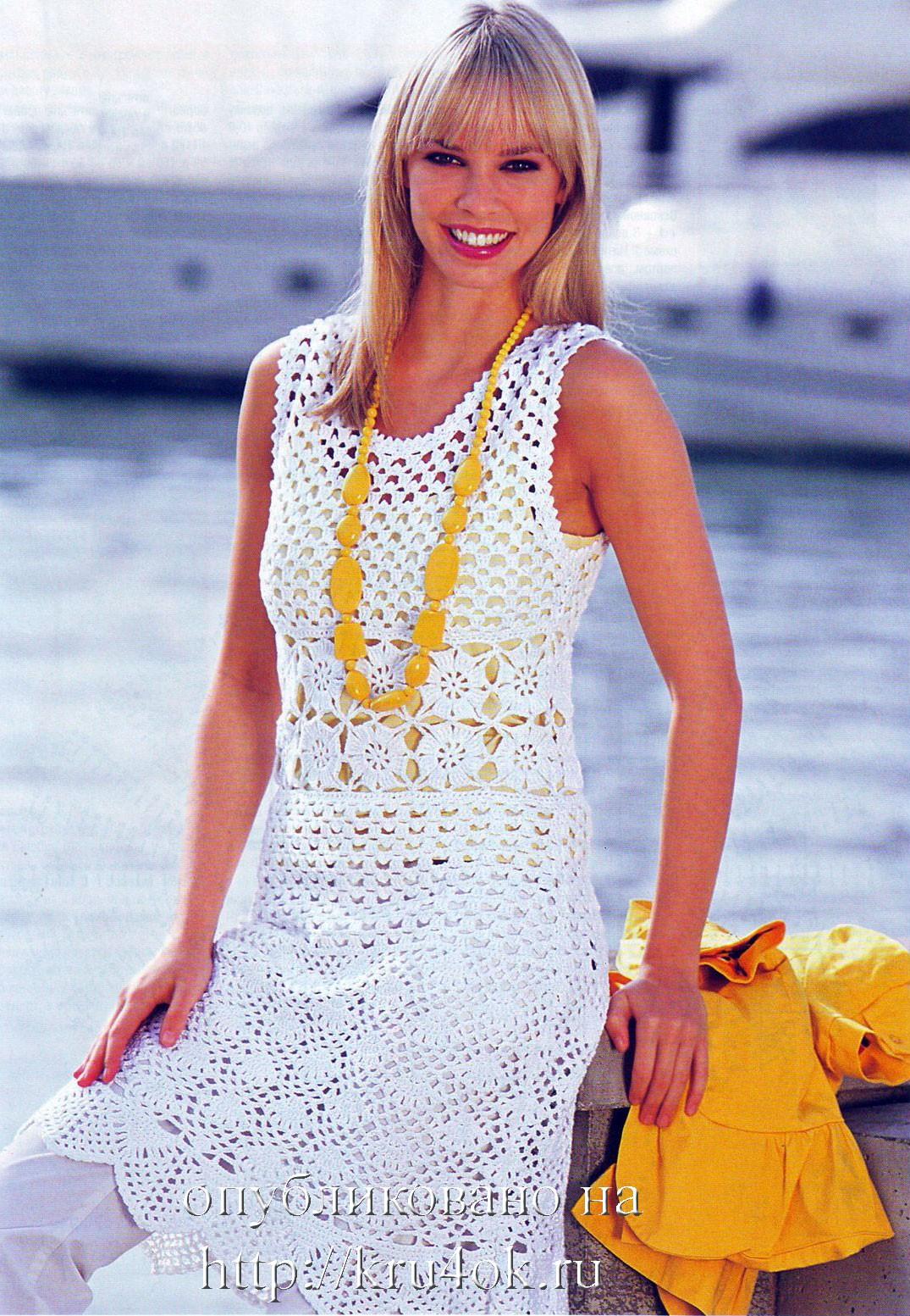 Комментарий: платья вязанные крючком фото. платье крючком платья...