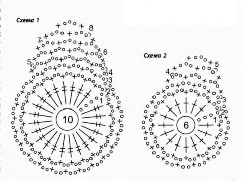 Схема 6 – салфетки крючком