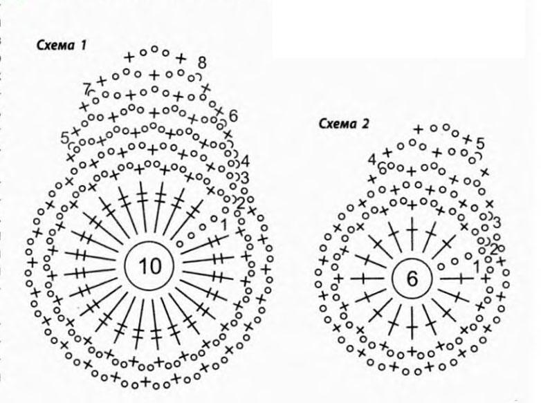 схемы салфетка бабочка вязание