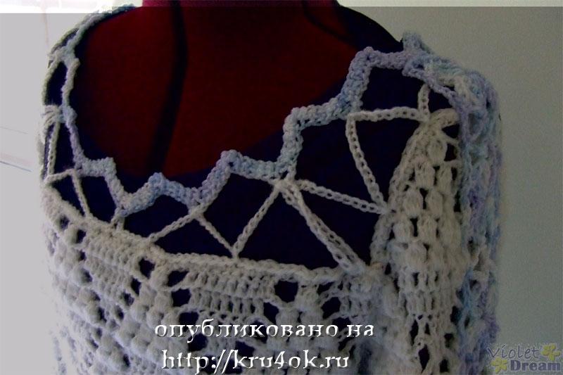Белая вязаная кофточка - вязание.
