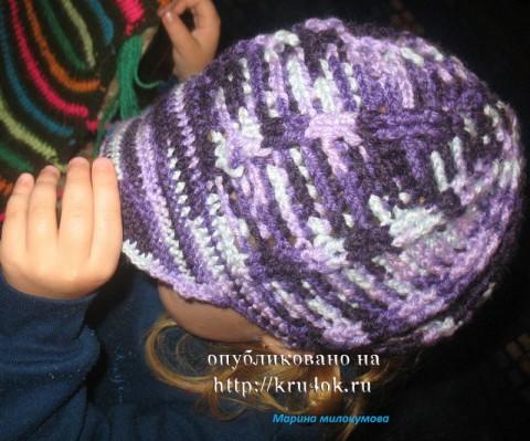 Схема вязания кепки.
