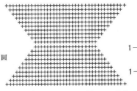 Схема вязания козырька: