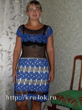 Вязаное платье - работа Людмилы Антипенко