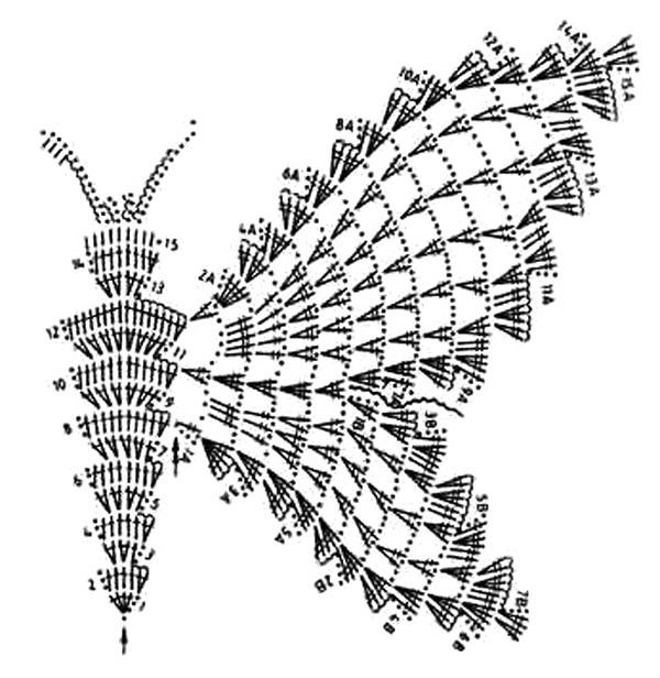 крючком схемы бабочки