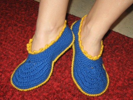 cozy slippers crochet