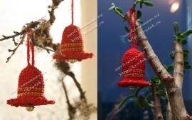 Рождественский колокольчик, связанный крючком