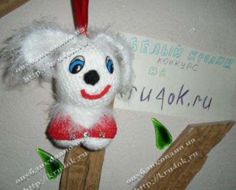Вязаная игрушка - Зайка Лили