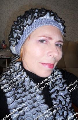 вязаный шарф и шапка