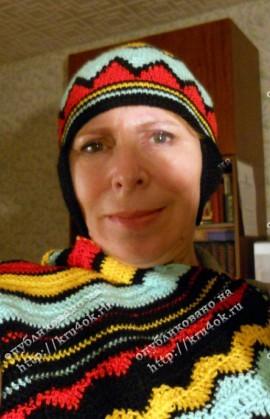Шапка и шарф вязанные крючком.
