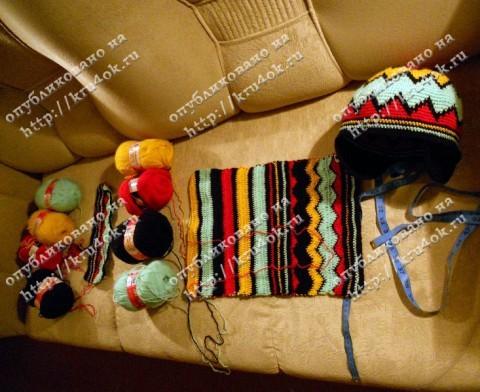 Растаманские шапка и шарф