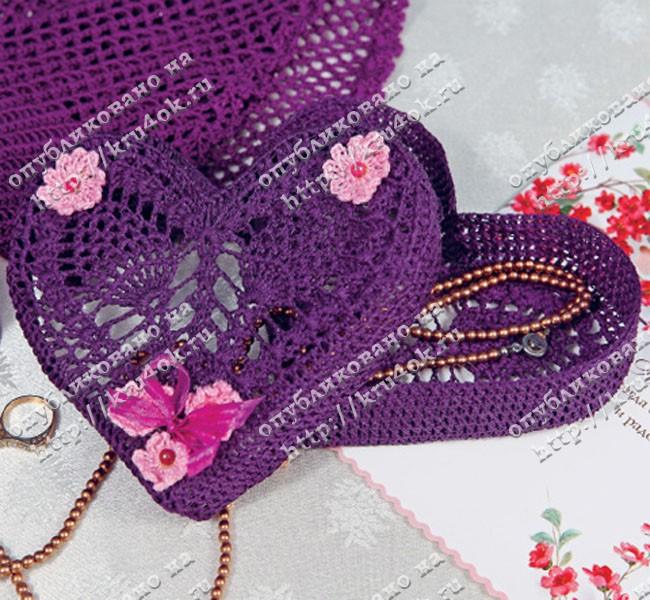 Размер вязаной шкатулки: высота 3 см, ширина 15 см. Материалы: пряжа...