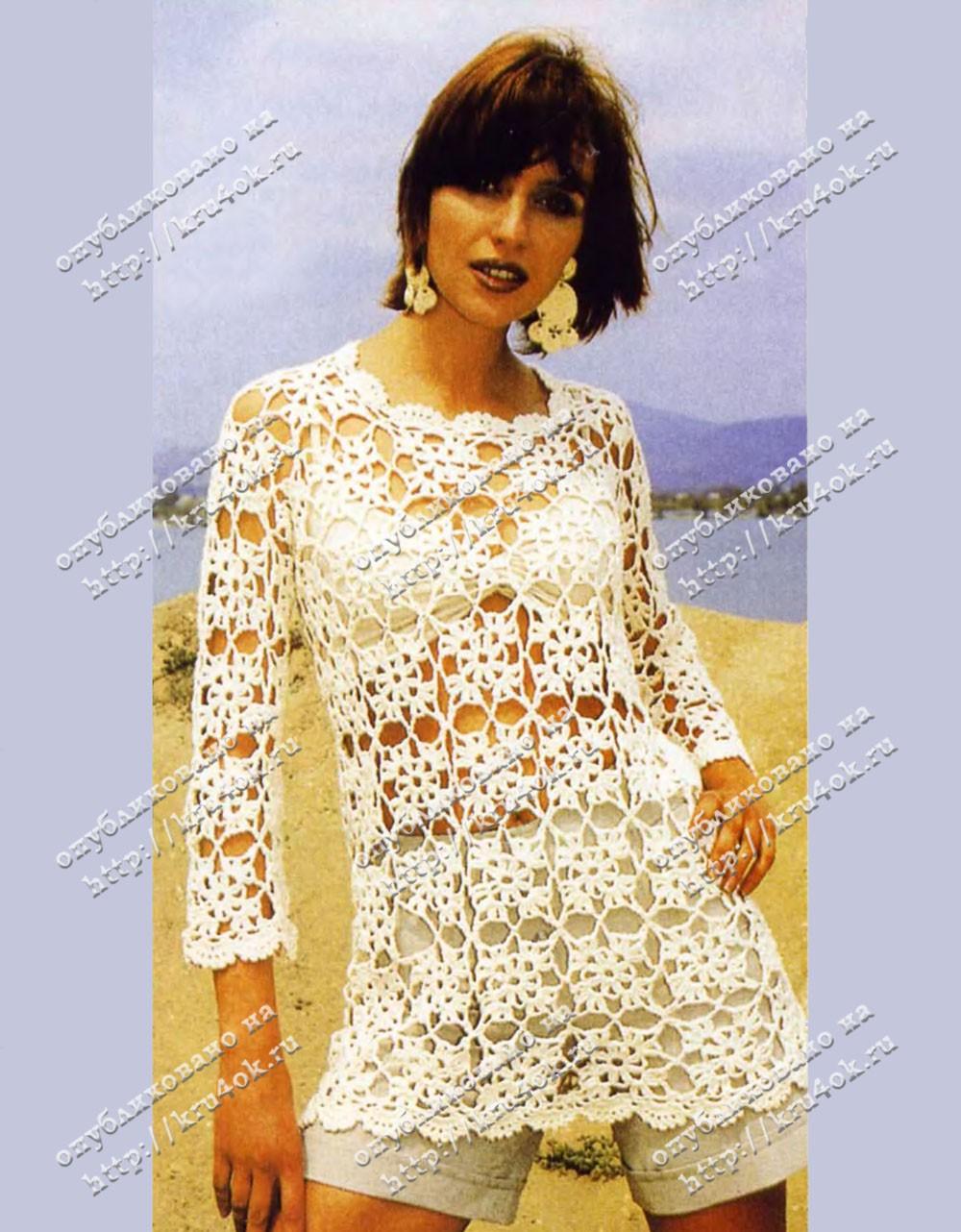 Вязание для женщин крючком. платья, туники, лучшие вязаные модели.
