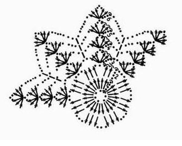 Схема вязания крестильного