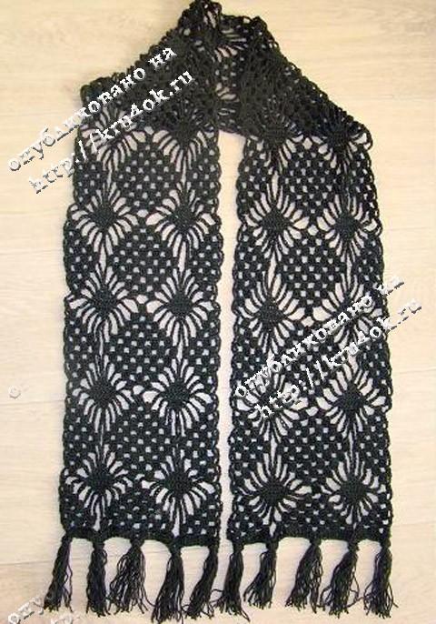 Весенний ажурный шарф