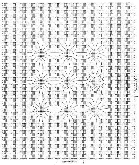 Вязание крючком схема вязания квадратной скатерти 149