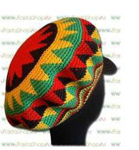 растаманская кепка, связанная крючком