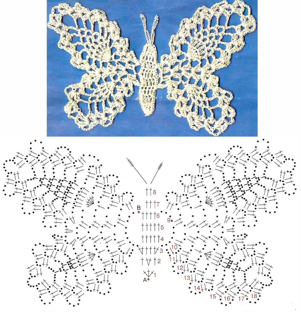 Схема к бабочке крючком