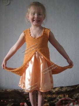 Оранжевое платье для девочки