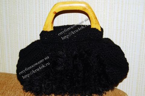 """Черная сумка  """"тучный мешок """""""