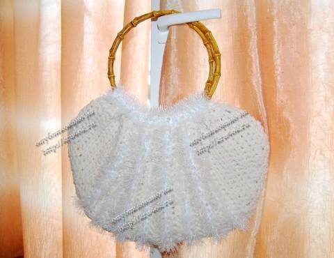 """Белая сумка  """"тучный мешок """""""