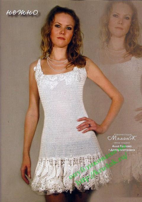 вязаный сарафан, платье