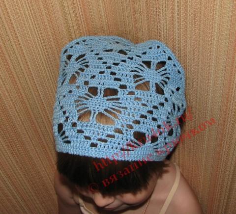 Детская вязаная косынка крючком, вязаные шапочки