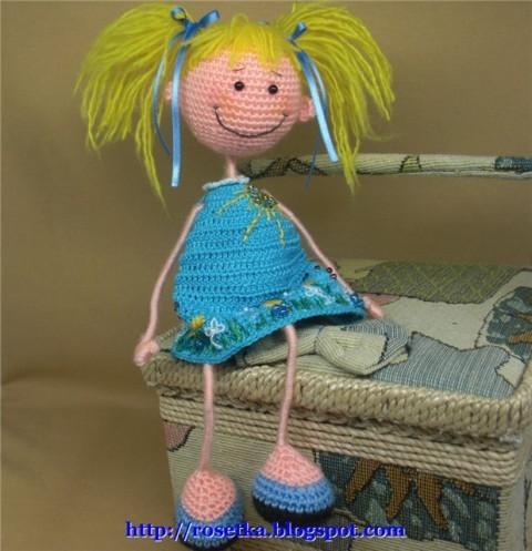 вязаная кукла Промокашка