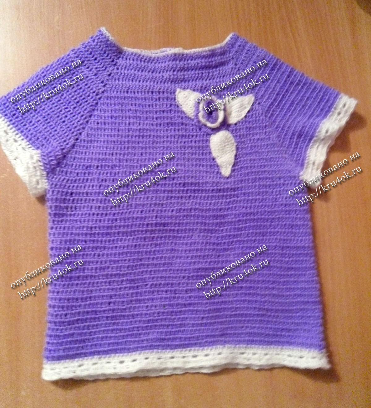 Вязание на спицах детской кофты регланом