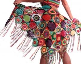 Радужная шаль