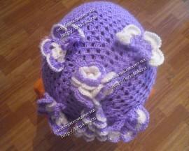 Детская шапочка с бабочками