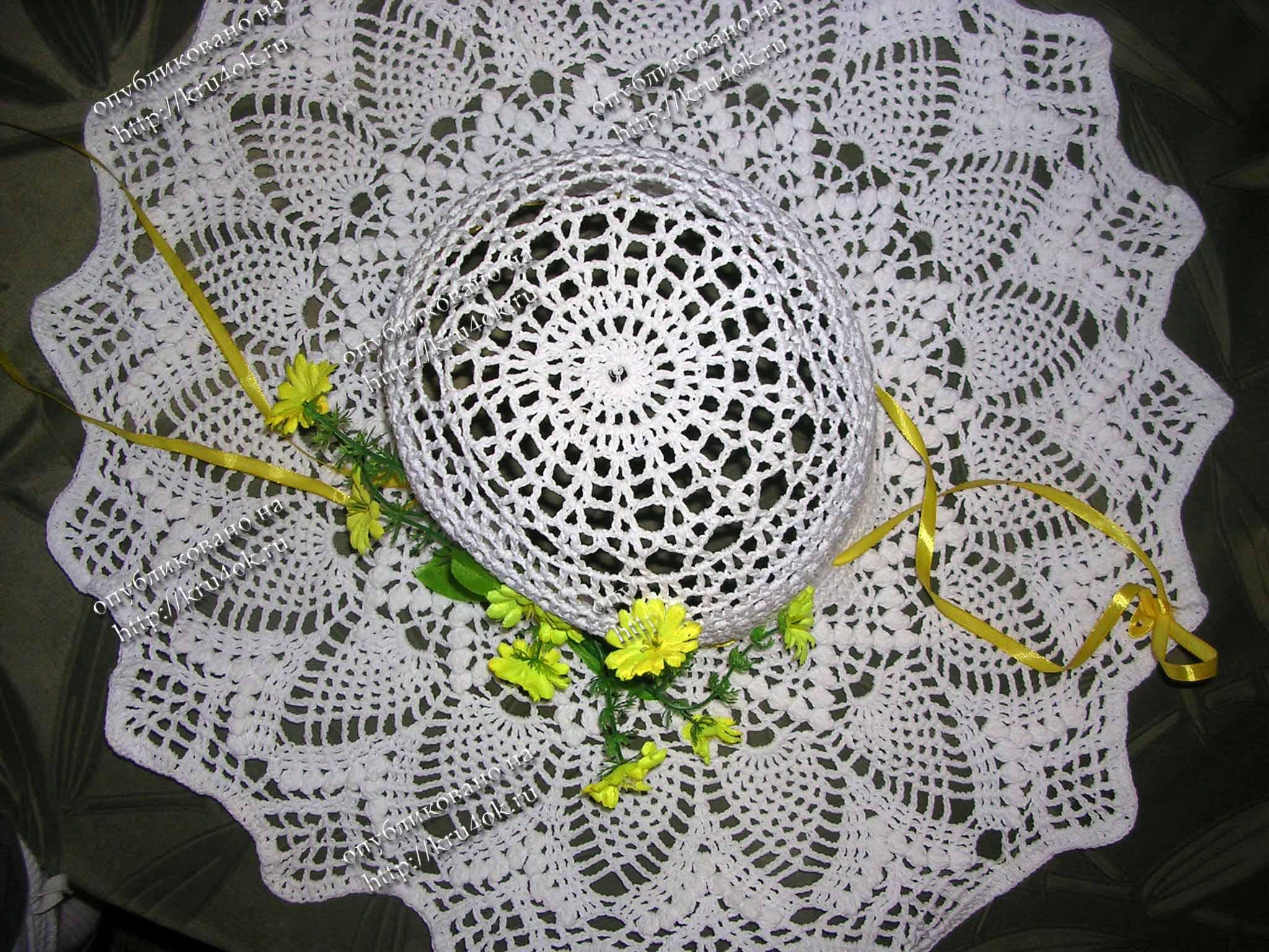 Вязание, шитьё, вышивание .  Шляпы (вязание крючком, схемы)