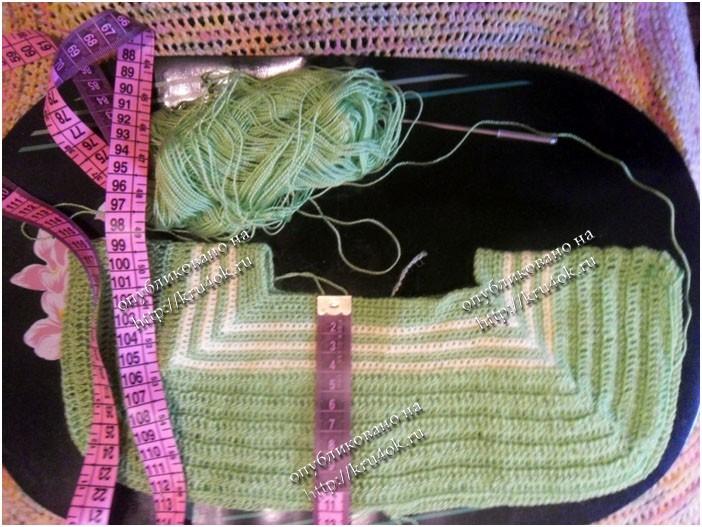 Мастер класс вязания детской кофты с капюшоном на спицах на 4 года.