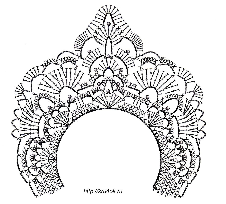 Вязанная крючком золотая корона.  Детские веселые шапочки крючком.  Вязанные крючком короны (схемы).