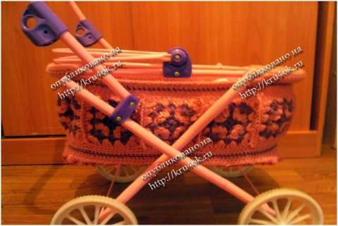 Чехол для коляски, связанный крючком