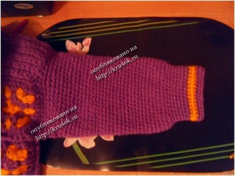 Вязаное пальто для девочки, вязание крючком