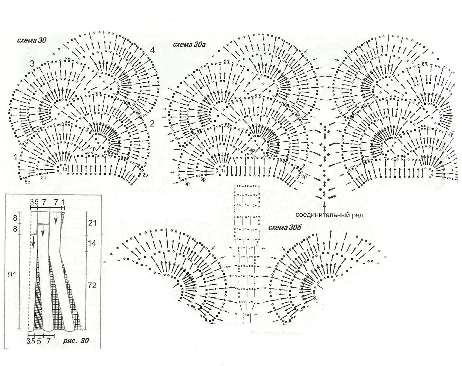 Самые сложные схемы вязания крючком 72