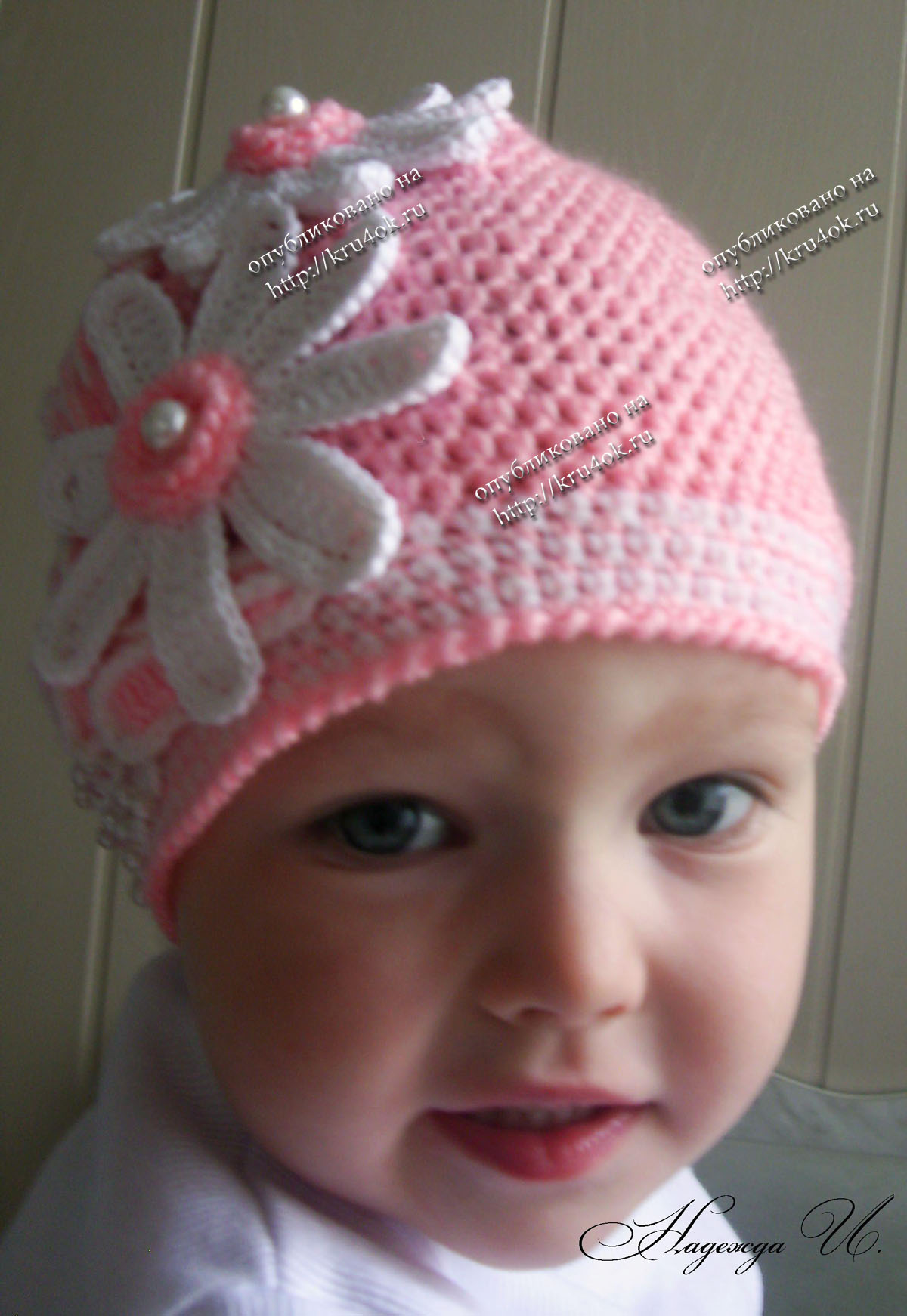 Вязание шапки для детей фото