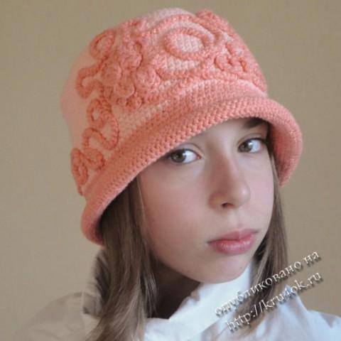 шляпка крючком для девочки схема. на Яндекс.Фотках.