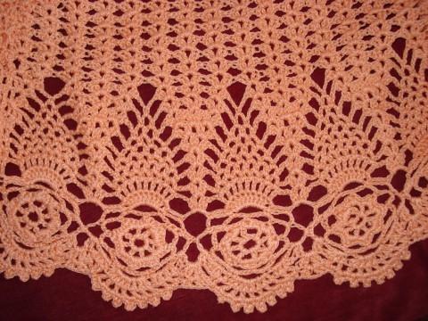 Блуза оранжевая связанная крючком